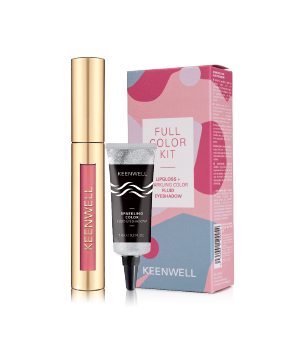 Pack 1 Full Color Kit Lipgloss+Sparkling Color Fluid Eyeshadow