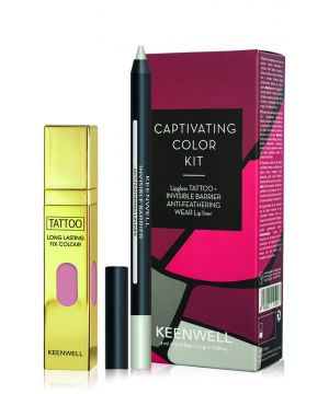 Pack 3 Captivating Color Kit Lipgloss Tattoo+Invisible Barrier Anti-Feathering Wear Lip Liner